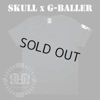 G-BALLER スカル サイド プリント Tシャツ Gボーラー オリジナル スカルTシャツ