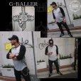 画像4: G-BALLER クロスダガーINスカル ラグラン ロングTシャツ  (4)