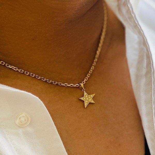 画像2: S,StarPendantDiamond /18K Sスターペンダント ダイヤモンド Unisex