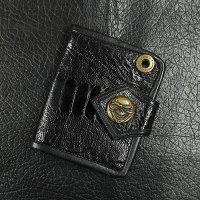 Stout Leather スタウトレザー ウォレット ブラックエンボス