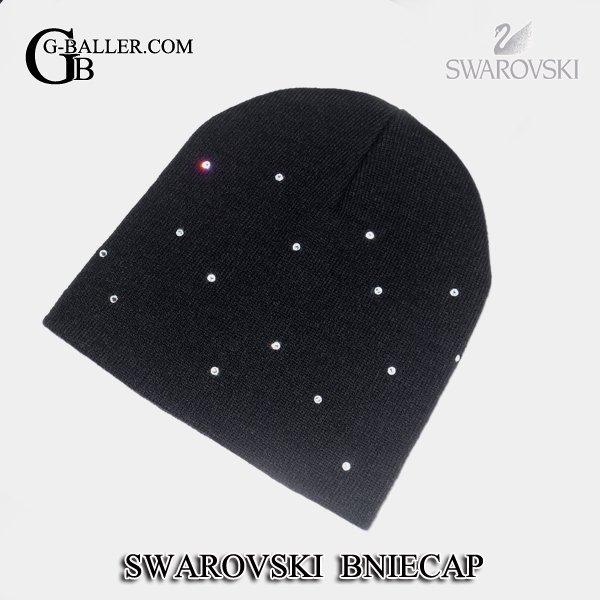画像1: スワロフスキー デコ デザイン ニット帽 キャップ