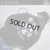 G-BALLER OFFICE  Original Gb Skull CROWN hood/ スカル クラウン クロムリング パーカー フード