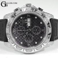 ティレットニューヨーク アフターダイヤ オートマティッククロノグラフ100 ブラックエナメル TIRET時計
