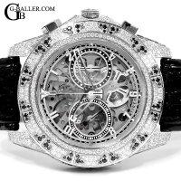 ティレット アフターダイヤ時計 オートマティッククロノグラフ100 スケルトン パヴェ TIRET時計