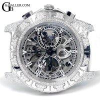 ティレットニューヨーク アフターダイヤ オートマティッククロノグラフ100 スケルトン TIRET時計