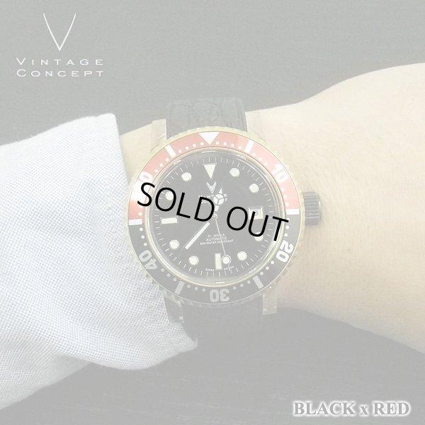 画像3: ヴィンテージコンセプト VINTAGE CONCEPT 時計 V3AL ブラック x レッド 希少 ブランド腕時計