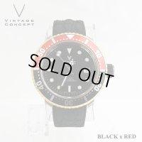 ヴィンテージコンセプト VINTAGE CONCEPT 時計 V3AL ブラック x レッド 希少 ブランド腕時計