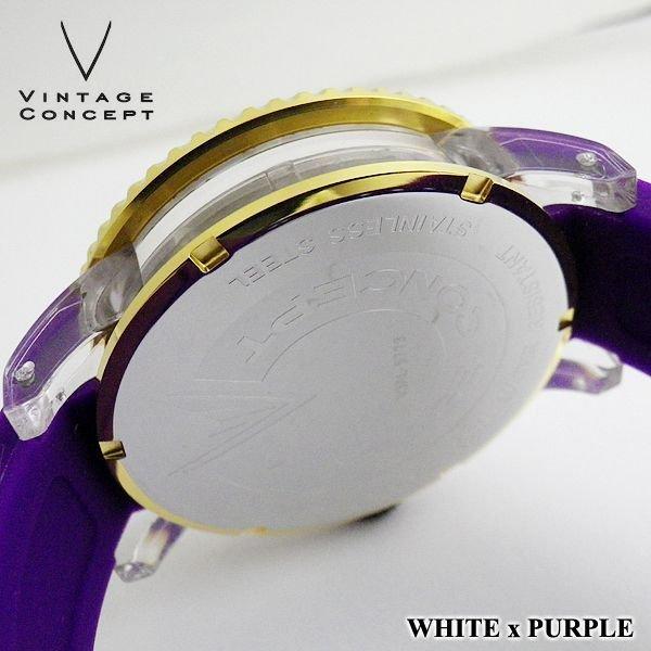 画像4: VINTAGE CONCEPT ヴィンテージコンセプト 腕時計 V3AL ホワイト x パープル