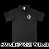 スワロフスキー クロス ポロシャツ