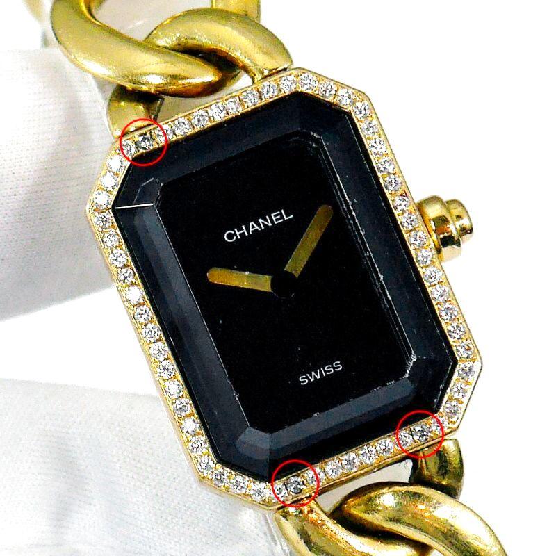 CHANEL プルミエール金無垢のダイヤ取れ修理を致します。