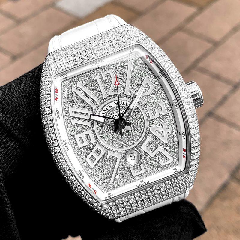 フランクミュラー ヴァンガード 白 ダイヤモンドの在庫販売
