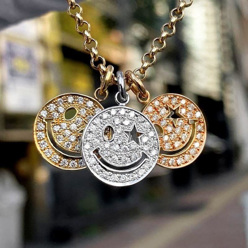 K18スマイルネックレス ダイヤモンド