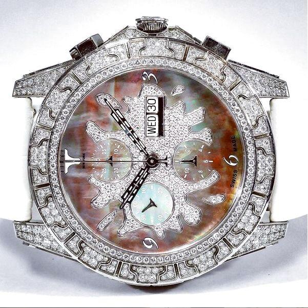 ティレットニューヨーク オートマチック クロノグラフ100 ブラックスプラッシュ オールダイヤ