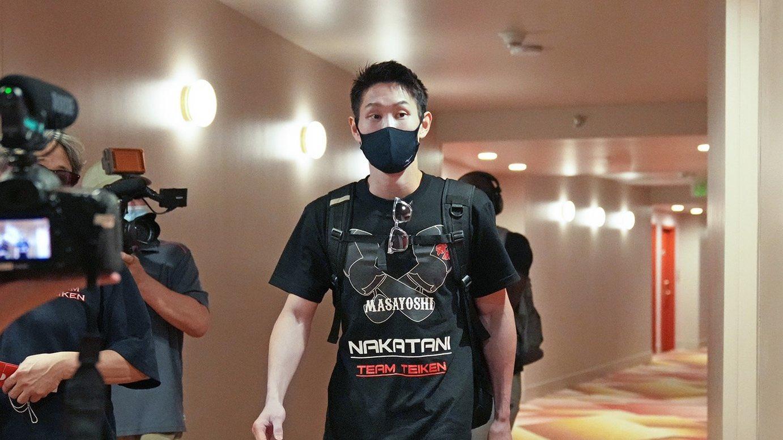 中谷正義選手 ラスベガス到着