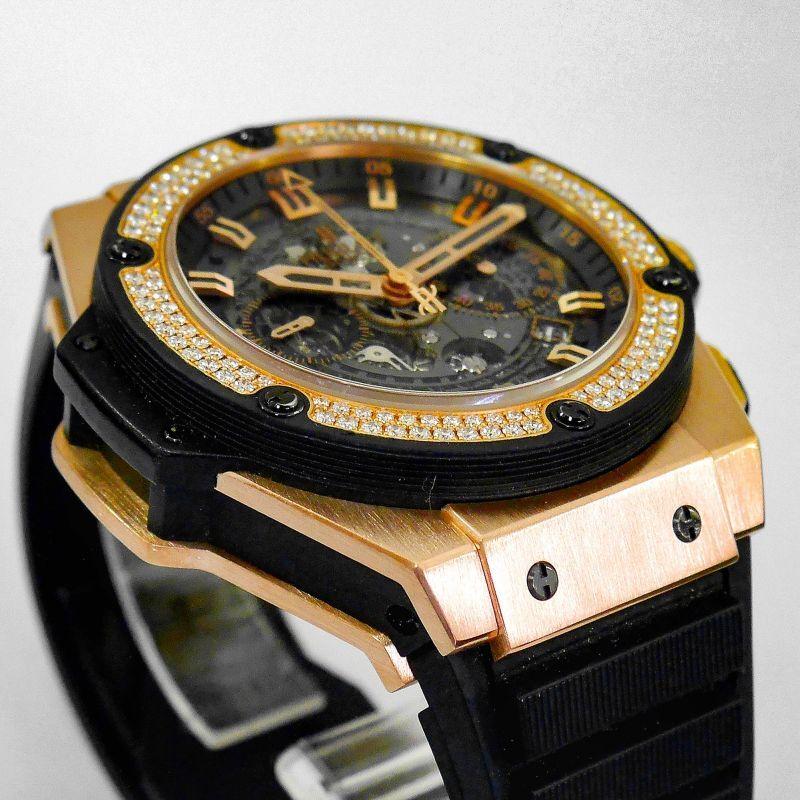 ウブロ時計修理 ケースの傷や打痕等を綺麗に修復致します。