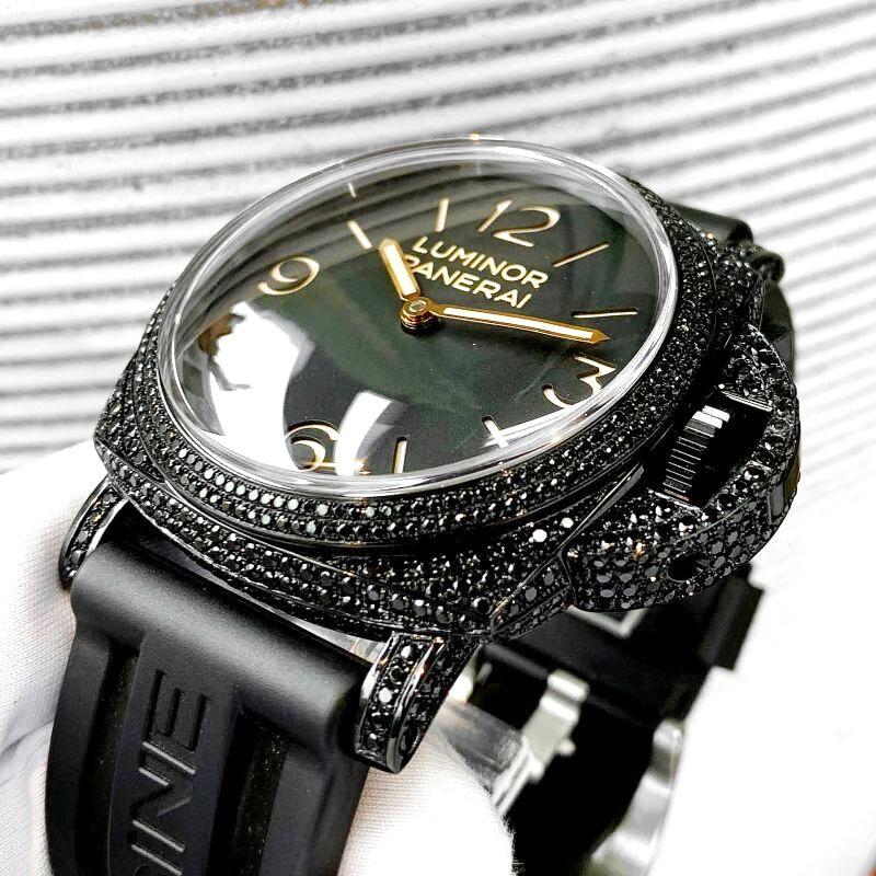 パネライ時計へのアフターダイヤ加工とPVD加工を致します。