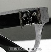 クロムハーツのアイウェアに、ダイヤモンドをセッティングした激レアクロムハーツメガネとなります。