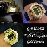Gショックカスタム G-BALLER DW6900 ブラック×ゴールド フルカスタム