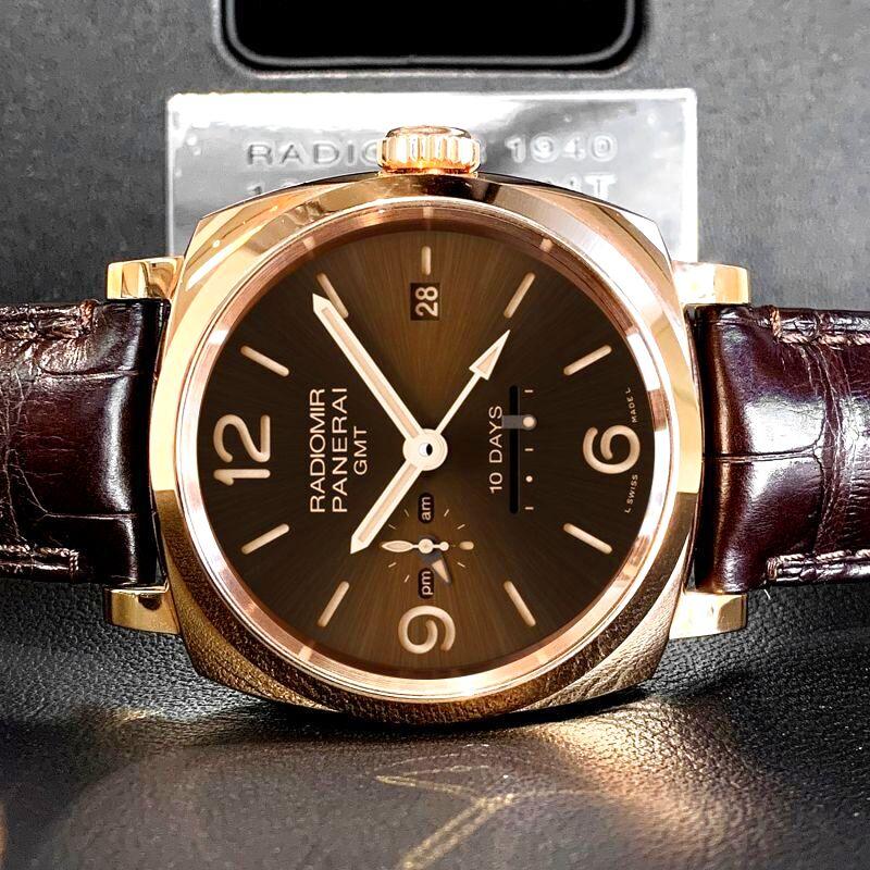 パネライ ルミノール オロロッソ GMT 世界限定150本 新品販売
