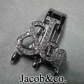 フランクミュラーのロングアイランドにダイヤをセッティングした高級ブランドウォッチ。