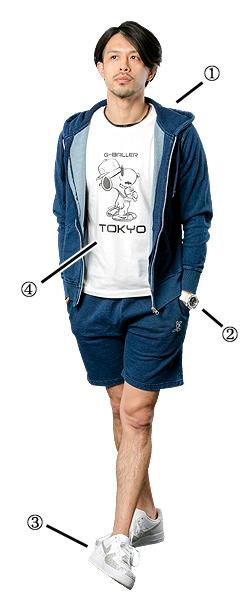 プロバスケチームの千葉ジェッツでも活躍している佐藤選手 着用アイテム。