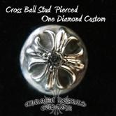クロムハーツ ダイヤカスタムを施した、人気のCHタイニークロス22K ダイヤとなります。