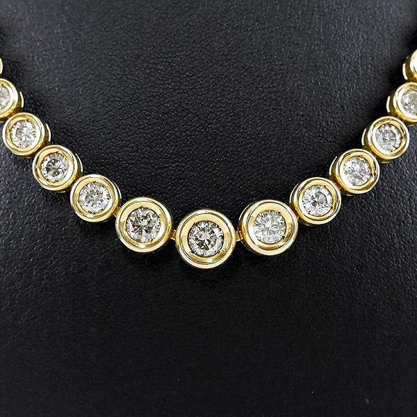 テニスネックレスダイヤモンド メンズ 50cm 10ctダイヤ
