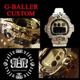 G-BALLERが展開するGショックカスタムの中でも、特に人気の高いクロムスカルウォッチバンドとなります。