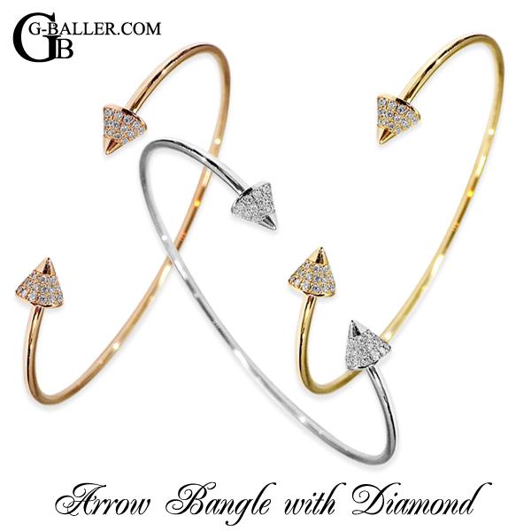 雑誌掲載アイテム K18アローバングルダイヤモンドです。