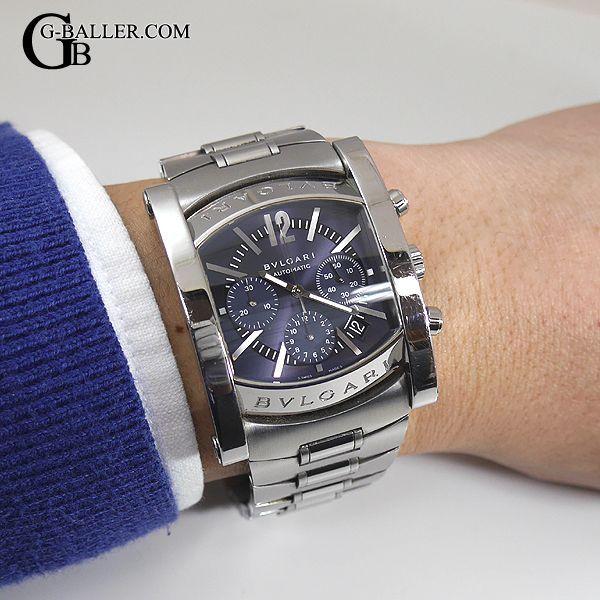 3a74b2a738 ブルガリ アショーマ クロノグラフ メンズ 腕時計