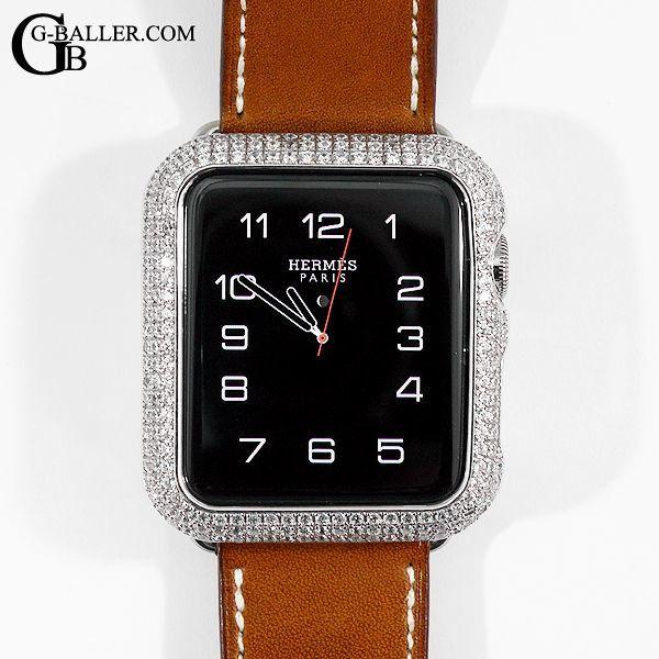 アップルウォッチ2 カスタム エルメス silver925 ダイヤモンド