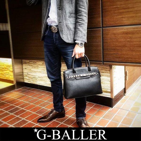 9a0d5ffb66dd スタッズレザーバッグ G-BALLER ブランド | スタッズトートバッグ メンズ ...